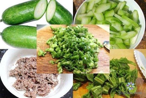 Canh bí đao nấu thịt bằm là món ăn ngọt mát