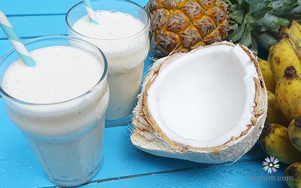 Hướng dẫn làm sinh tố dừa (nguồn: higlum)