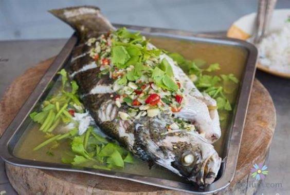 Hoàn thành món cá mè hấp bia