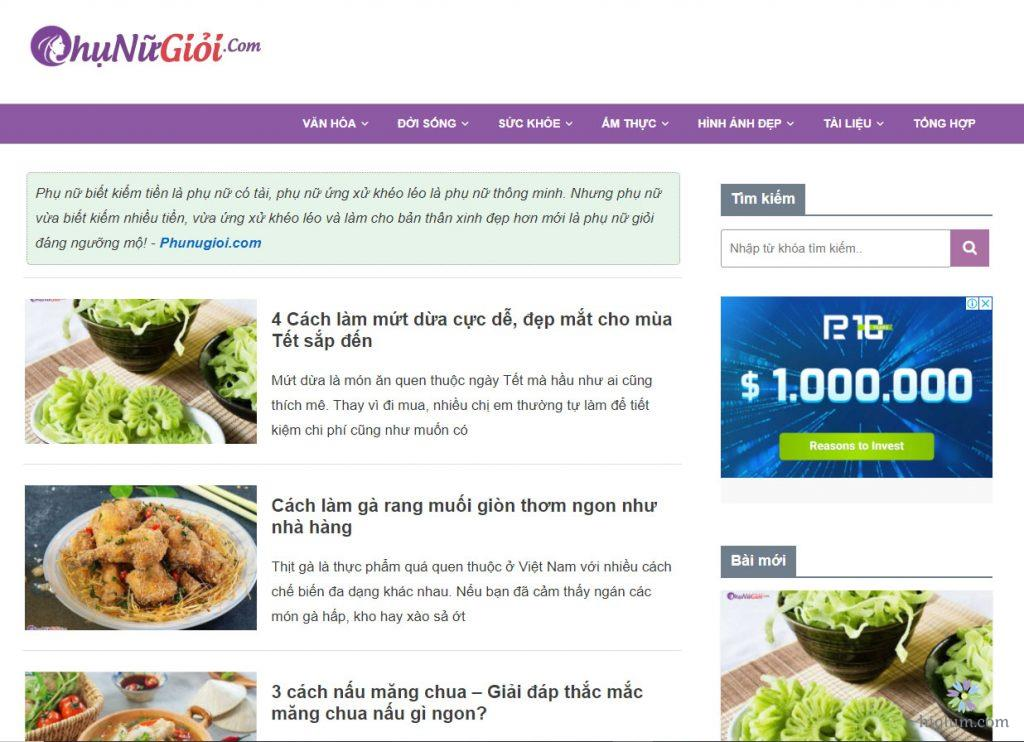 Phunugioi.com nơi chia sẻ những kiến thức ẩm thực phong phú nhất